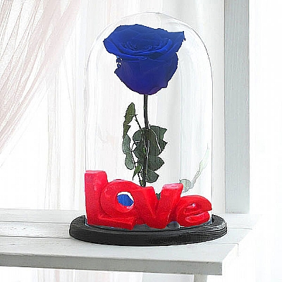 Love Serisi Solmayan Mavi Gül