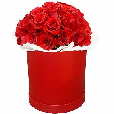 Kirmizi Çiçek Kutusunda 20 Gül - İthal Gül