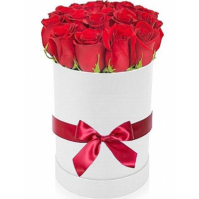 Çiçek Kutusunda 20 Gül -İthal Gül